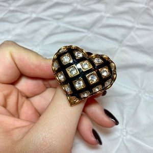 Betsey Johnson Heart Ring